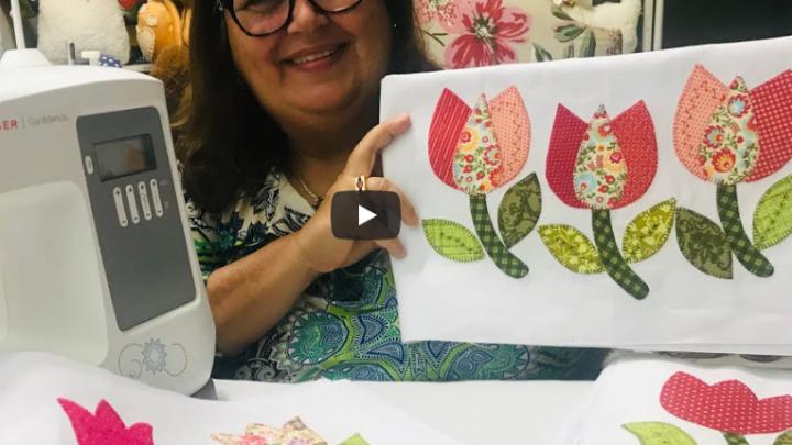 Aprendendo a Fazer um Jardim de Tulipas Patch Apliquê!