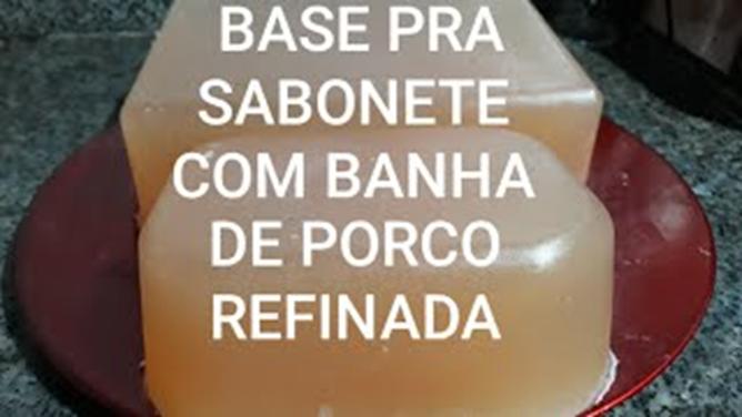 Base pra Sabonete Feita com Banha de Porco Refinada