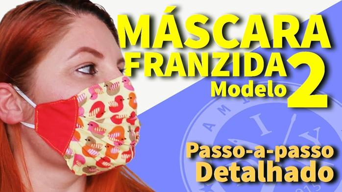 Máscara de Proteção Franzida Modelo 2