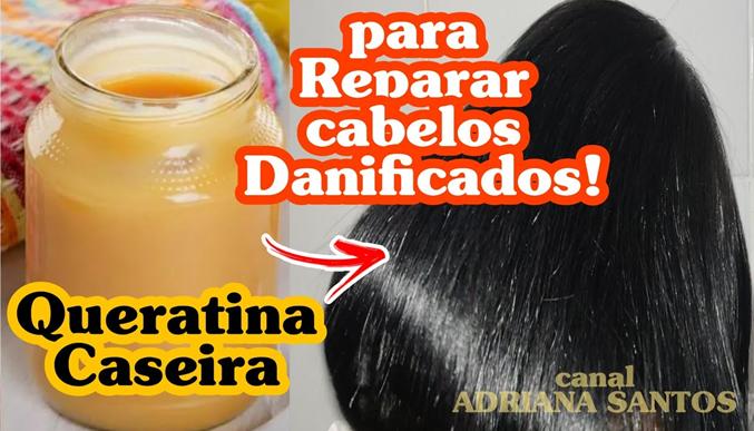 Aprenda a Preparar a sua Própria Queratina Caseira para Reparar e Alisar os cabelos!