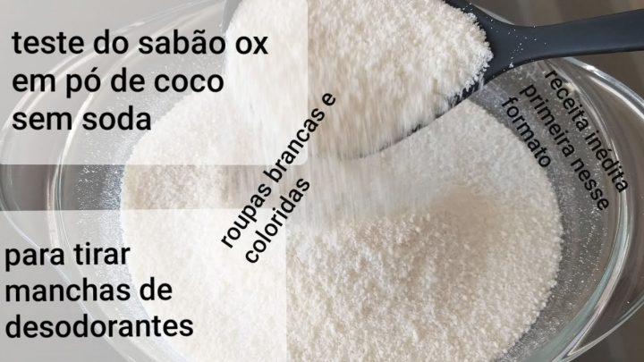 Sabão em Pó de Coco Para Roupas Brancas e Coloridas