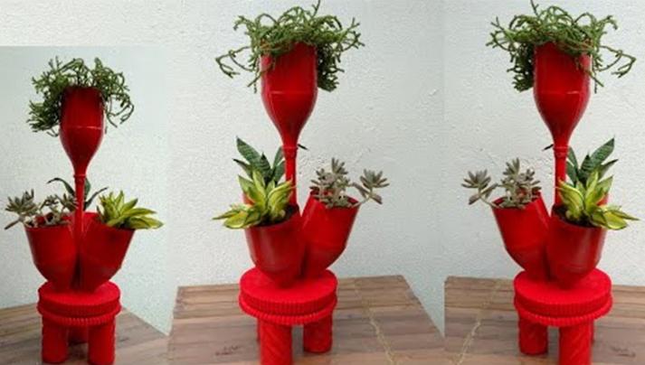 Reciclando Garrafas Pet e Transformando em Vasos Modernos