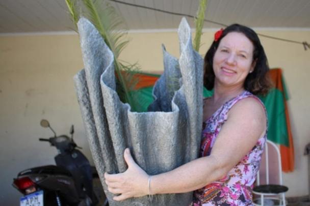 Como Fazer Vaso Gigante de Cimento